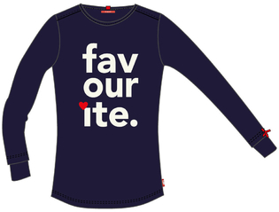 Long Sleeve T-shirt F Navy trans