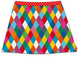 skirt plisse  dessin Allover Wieber