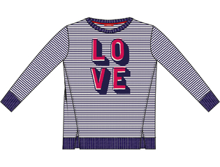 T-shirt stripe love NAOFL