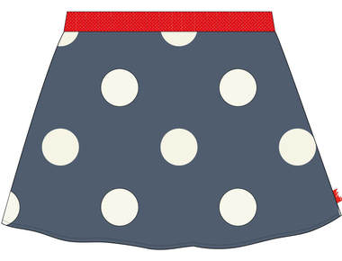 Skirt allover bigdot