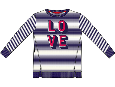 T-shirt stripe love Outlet