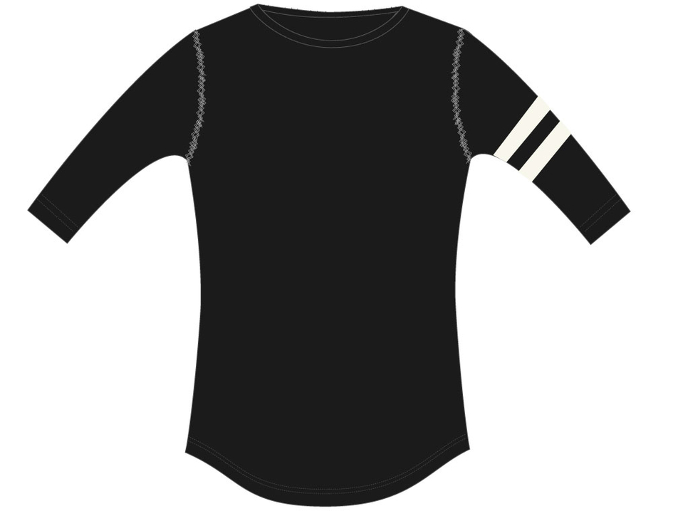 3/4 T-shirt Paris Nearly black